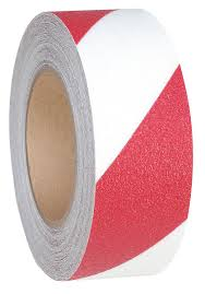 Csúszásmentes Padlójelölő-ragasztószalag Piros-Fehér 25mmx18m