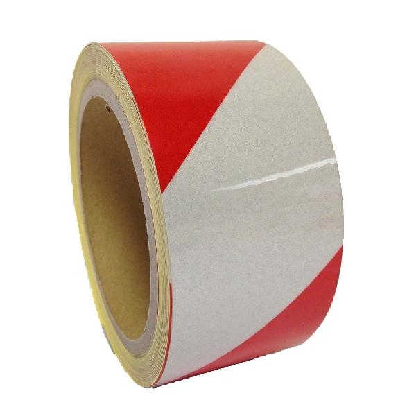 Fényvisszaverő ragasztószalag 50mmx11m Piros-Fehér