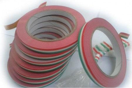 Ragasztószalag-Zacskó lezáró szalag Piros-fehér-zöld